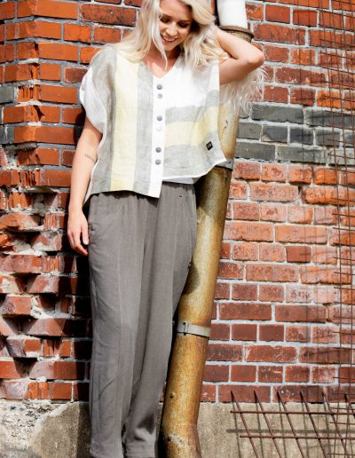 linen shirt pants woman e avantgarde